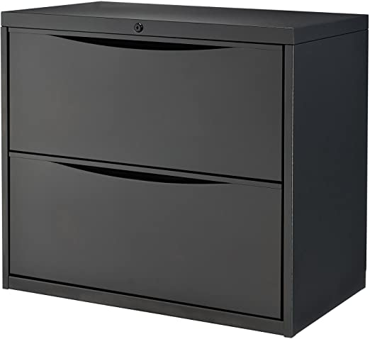 Amazon Com 30 W Premium Lateral File Cabinet 2 Drawer Black Kitchen Dining