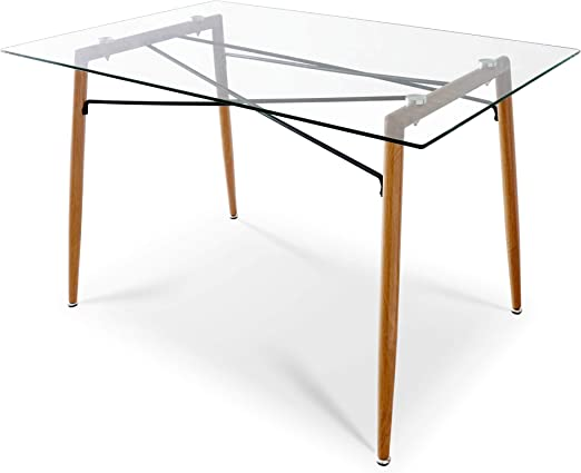 Mesa de comedor, cocina o escritorio de cristal templado, estilo ...