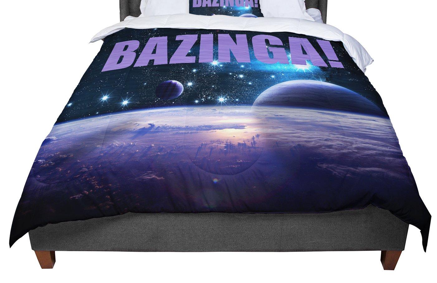 KESS InHouse KESS Original Bazinga Purple Space King 104 X 88 Cal King Comforter