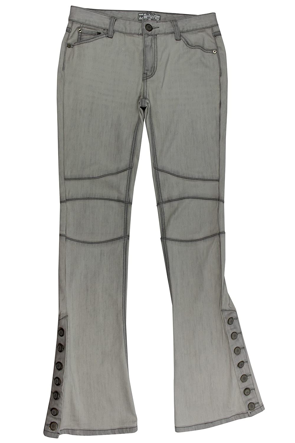 Free People Women's Grey Seamed Flared Jeans