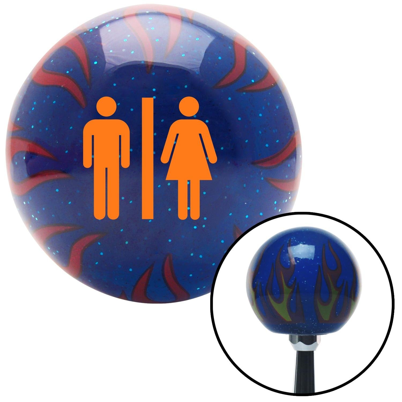 Orange Man /& Woman American Shifter 246651 Blue Flame Metal Flake Shift Knob with M16 x 1.5 Insert