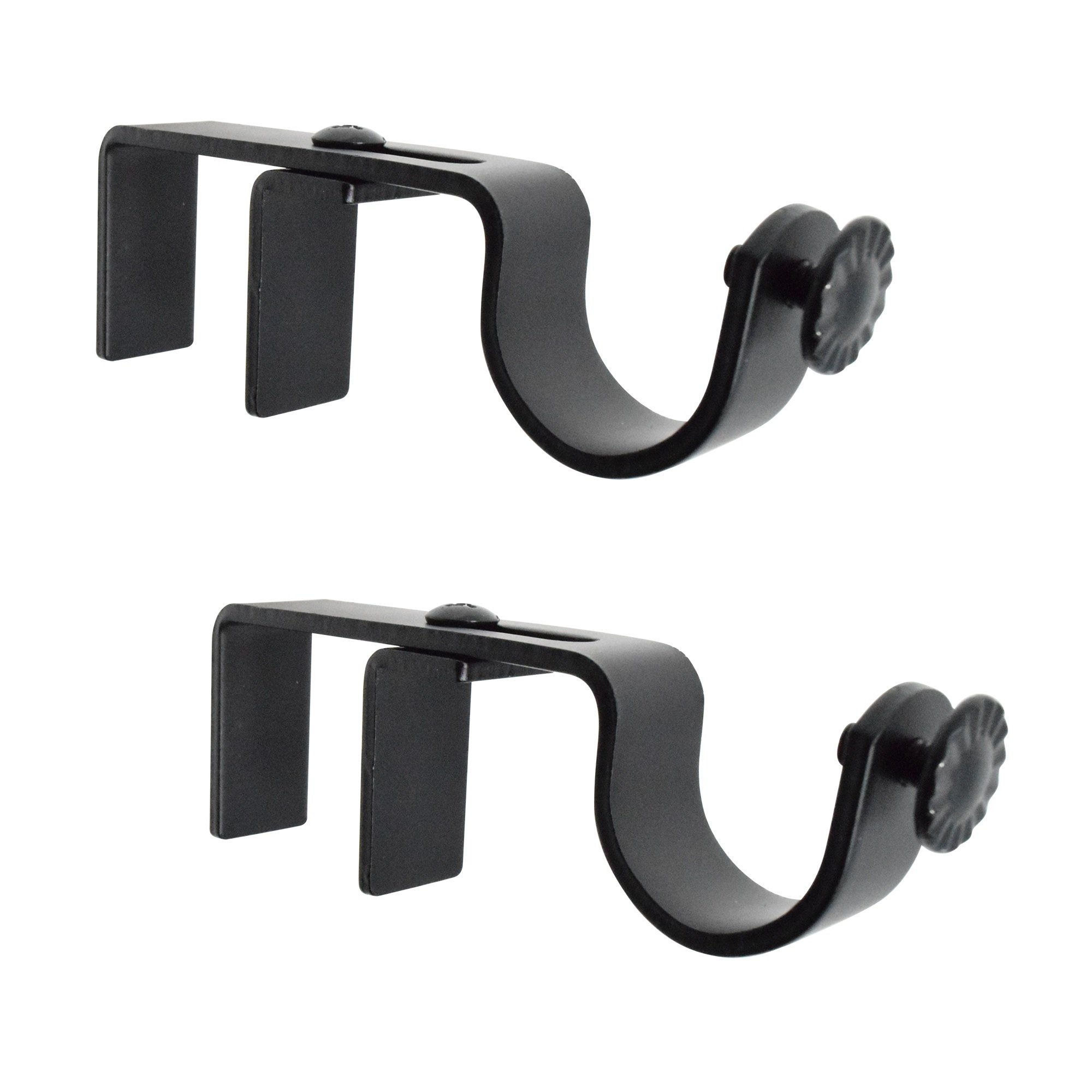 GbHome GH 6758B Adjustable Curtain Rod Bracket For Placing Over Outside Mounted Blinds Set