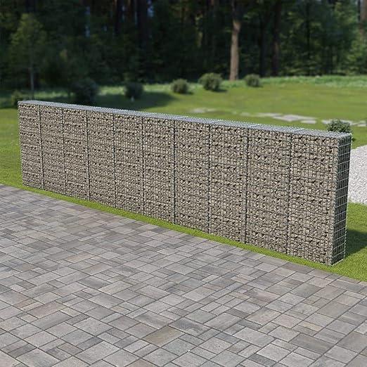 tidyard Gaviones para Piedras con Soldadura Cesta de Gaviones de Alambre Galvanizado Decoración de Jardín 600x30x150cm: Amazon.es: Hogar