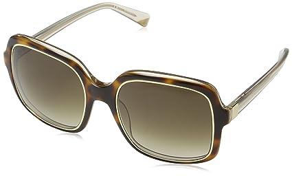 Nina Ricci Damen Sonnenbrille Snr012, Grün (Havana+Powder), Einheitsgröße