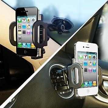 3 en 1 coche, soporte seguro teléfono móvil/gps para parabrisas o ...
