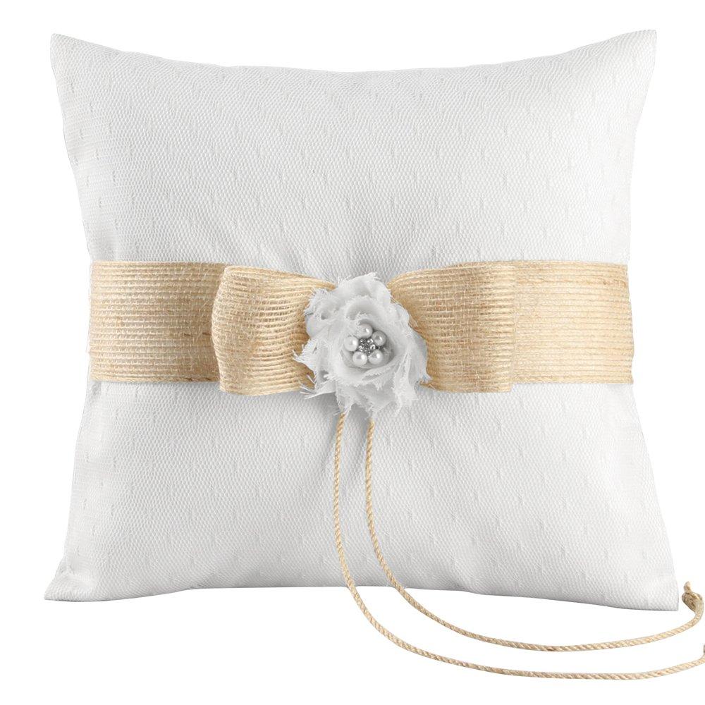 Ivy Lane Design Miranda Collection Ring Pillow White A01250RP//WHT 8-Inch