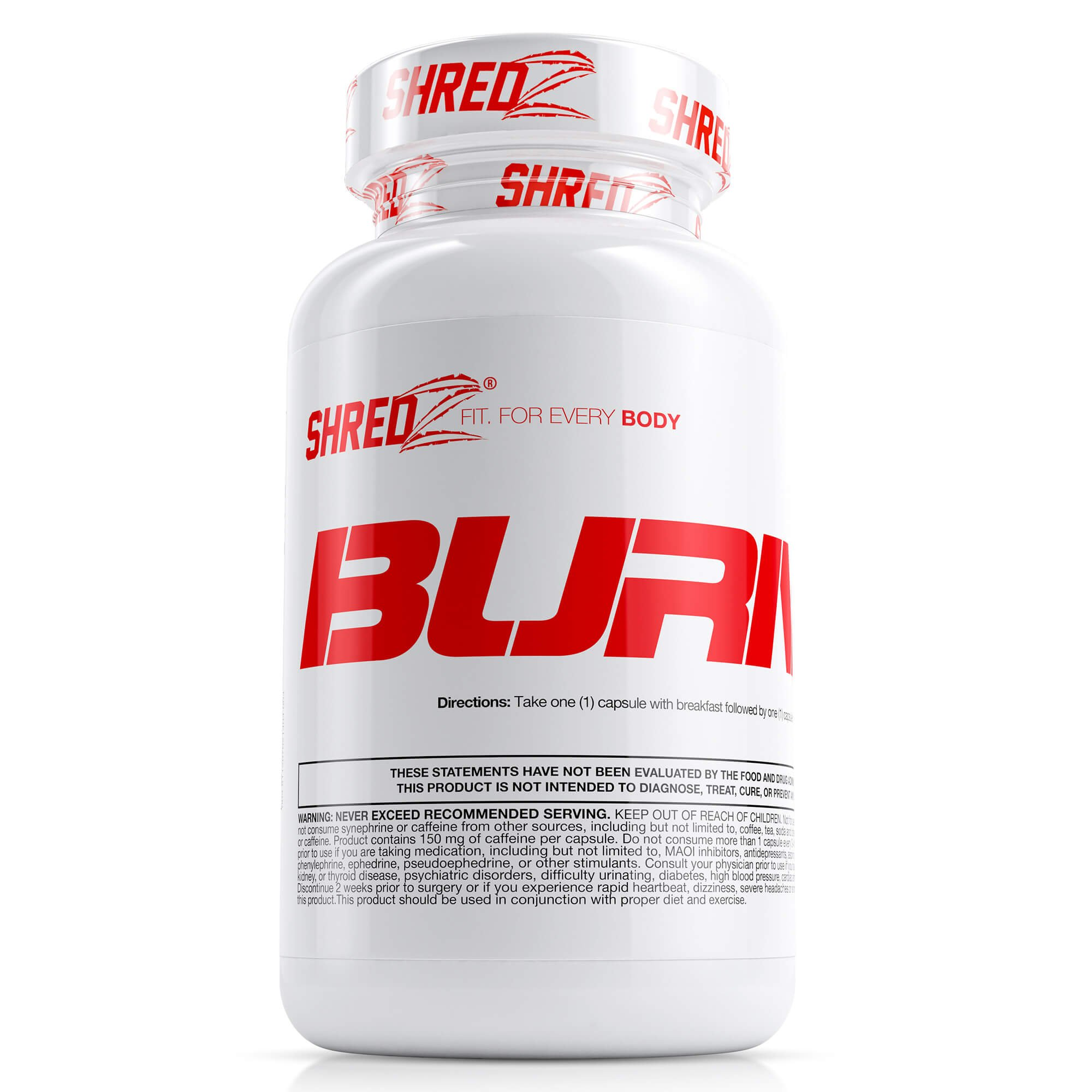 SHREDZ Fat Burner Supplement Pill for Men, Lose Weight, Increase Energy, Boost Metabolism, Best Way to Shed Pounds - 60 Capsules (30 Day Supply)