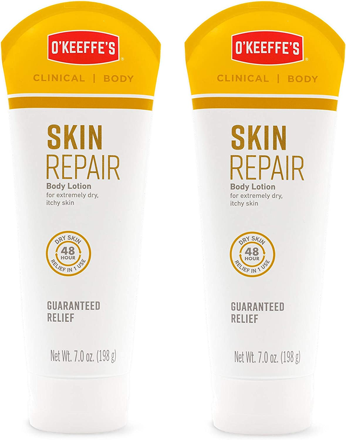 O'Keeffe's Skin Repair Body Lotion and Dry Skin Moisturizer, Tube, 7 ounce, (Pack of 2)