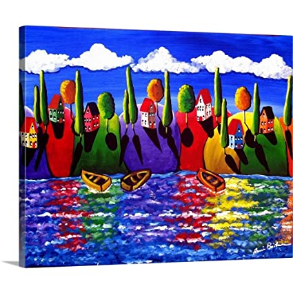 Amazon com: Gallery-Wrapped Canvas Entitled Colorful