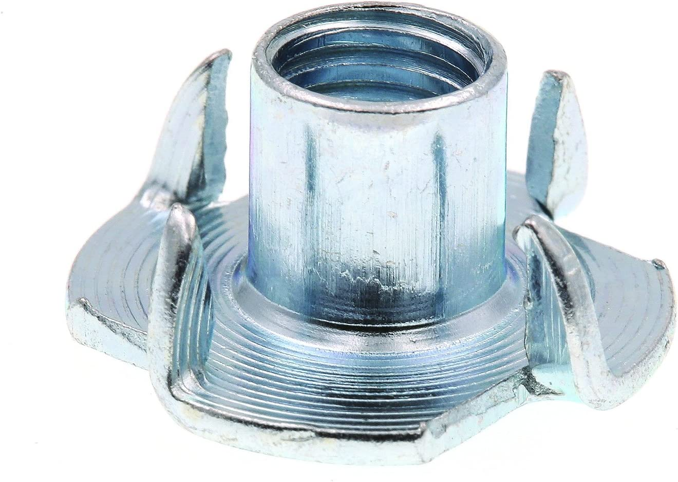 10-Pack Prime-Line 9078030 T-Nuts Zinc Plated Steel 3-Prong 5//16 in.-18 X 7//16 in.