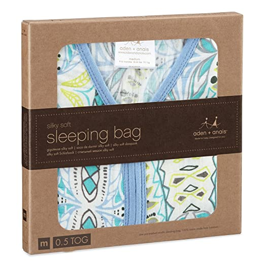 aden + anais silky soft sleeping bag, wild one, M