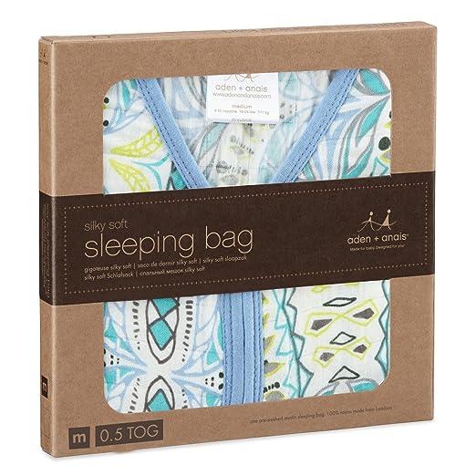 aden + anais silky soft sleeping bag, wild one, M