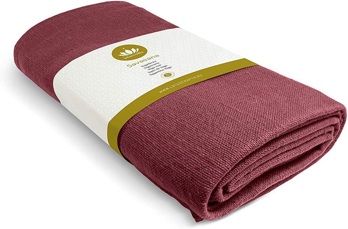 - Meditation Blanket 200 x 150 cm Robust /& Durable Made of 100/% Organic Cotton Lotuscrafts Yoga Blanket Savasana