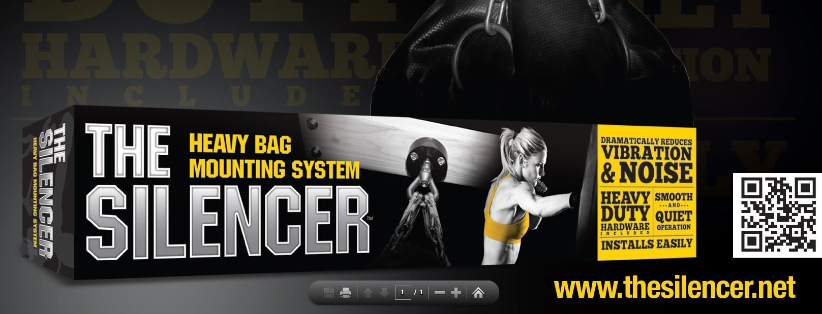 Heavy Punching Bag Hanger Mount ''The Silencer'' by ACCU-TECH (Image #9)
