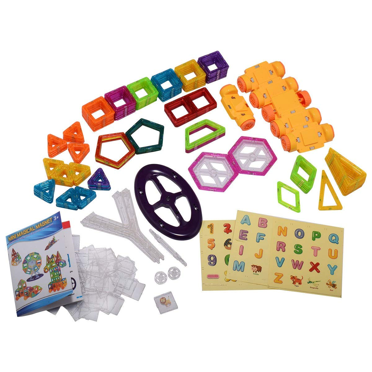 EnjoyShop 158 pcs Magical Magnetic Construction Building Blocks Smooth Interface and Good Abrasion Resistance for Durability by EnjoyShop (Image #1)