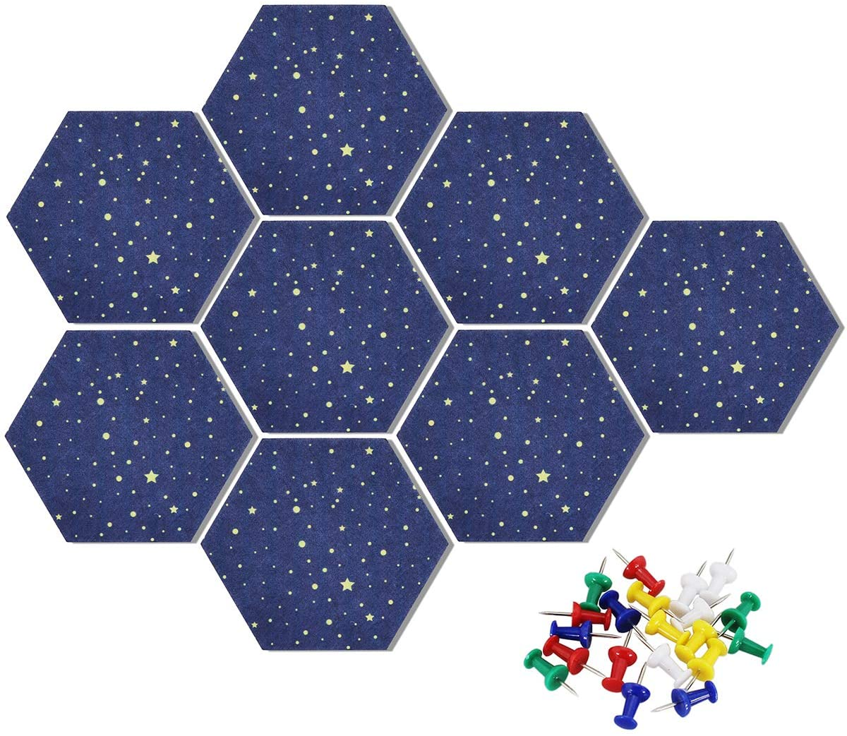 Pack of 6 Bulletin Board Notice Boards for Home Office Kitchen Uoisaiko Large 30x30cm Felt Board Tiles with 30 Pins Self Adhesive Pin Board Wall Tiles for Photos Memos