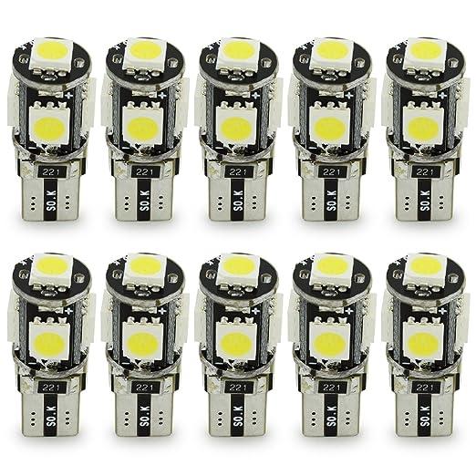 98 opinioni per Safego 10 x LAMPADINE T10 W5W LED bianche canbus senza errori 194 168 cuneo Tipo
