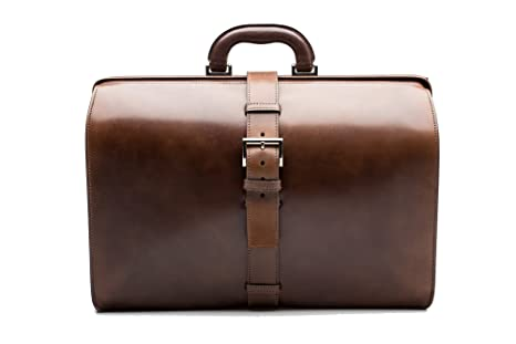 93ca90a21ffe Prada Vintage Unisex Calf Leather Briefcase Dark Brown: Amazon.ca: Luggage  & Bags