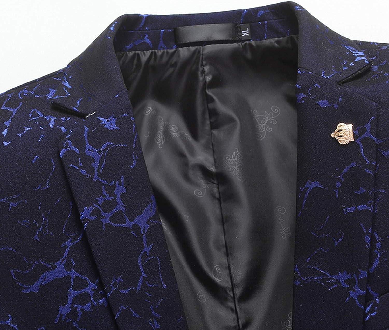 Blazer Mens Wedding Jackets Casual Business Suit Men Printing Suit Jacket Male Blazers Suits Size M-3XL