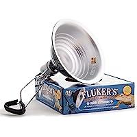 """Fluker's Clamp Lamp with Dimmer - 8.5"""", Black"""