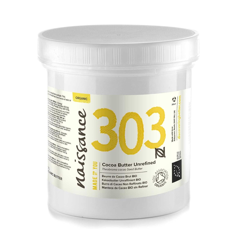 Naissance Burro di Cacao Non Raffinato Certificato Biologico Naturale al 100% - 250g