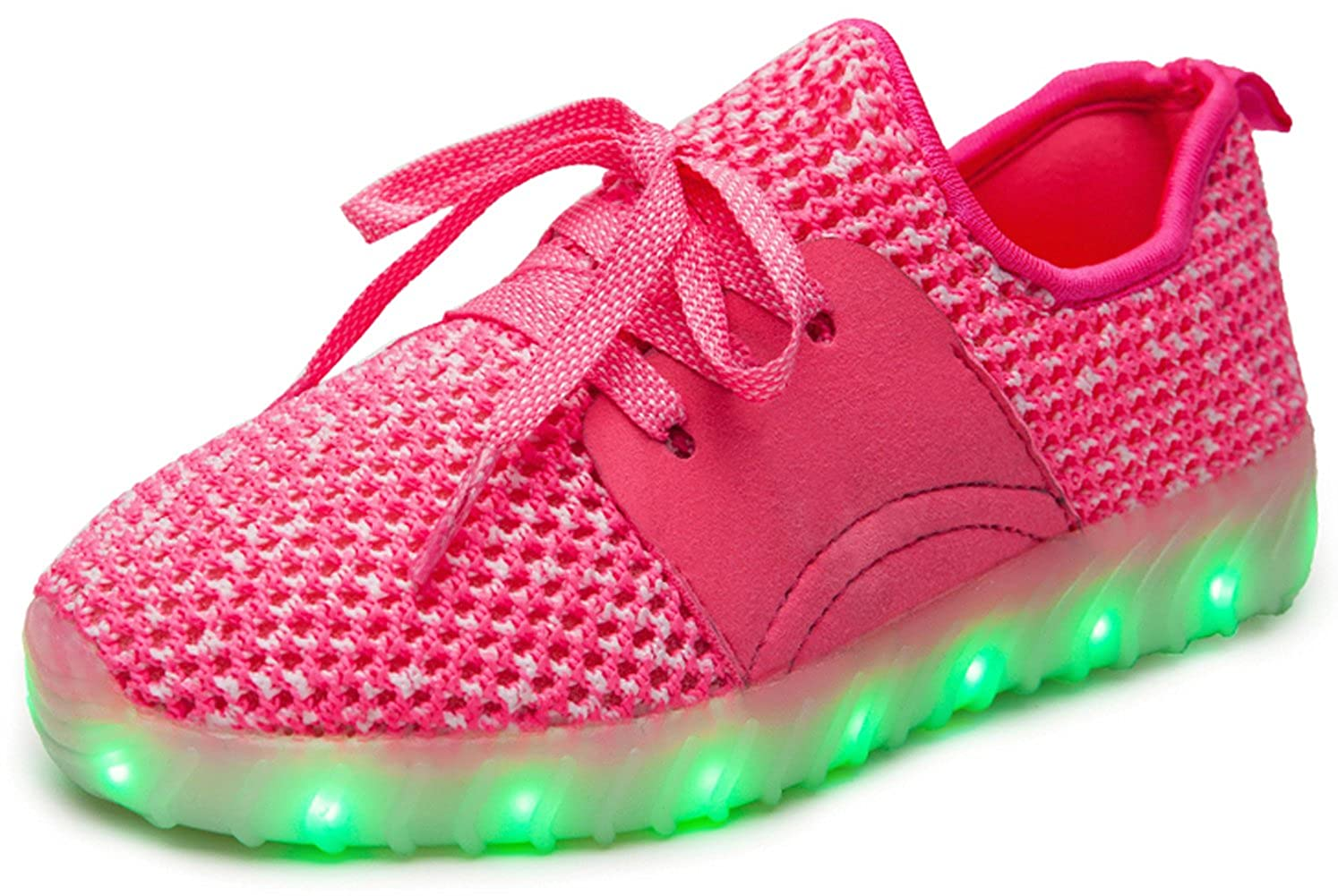 Toddler//Little Kid//Big Kid Dear-Queen Kids 7 Colors LED Light up Shoes for Boys Girls fashion-sneakers
