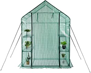 "Greenhouse,Indoor and Outdoor Greenhouse,Window and Anchors Include,Grow Plants Seedlings Herbs or Flowers(56""×30""×76"")"