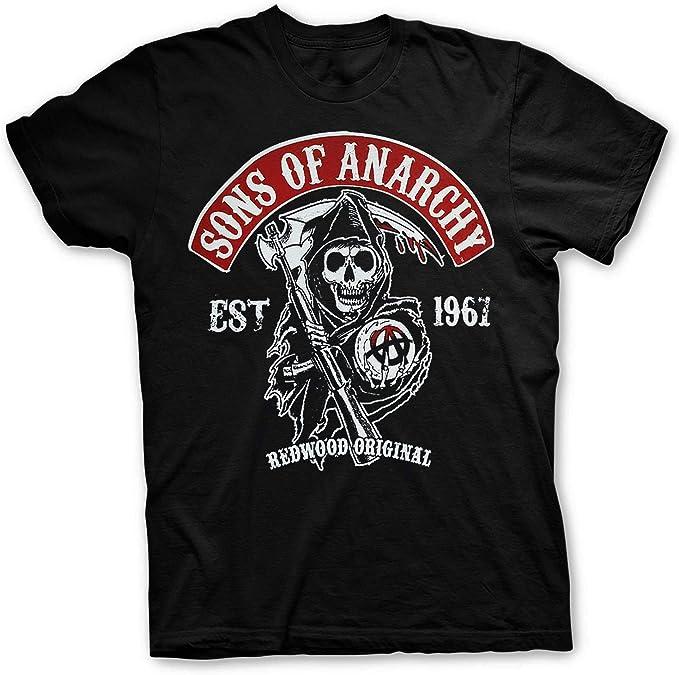 Camiseta motera Hombre Rockera Hijos de la Anarquía