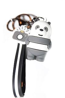 Amazon.com: Llavero con diseño de oso de peluche con texto ...
