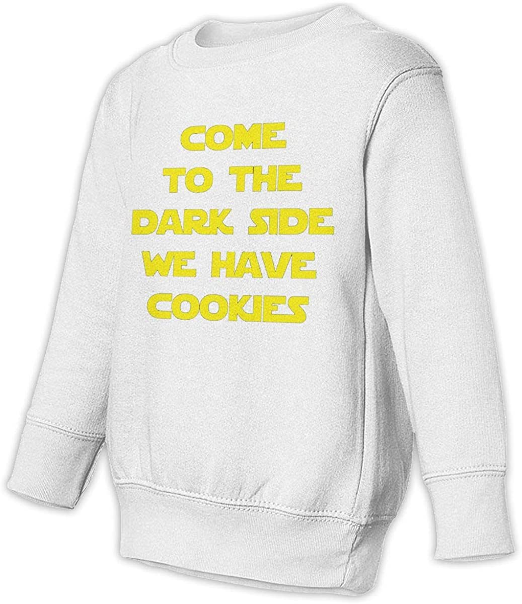 NMDJC CCQ Come to The Dark Side Cookies Baby Sweatshirt Lovely Kids Hoodies Soft Sweaters