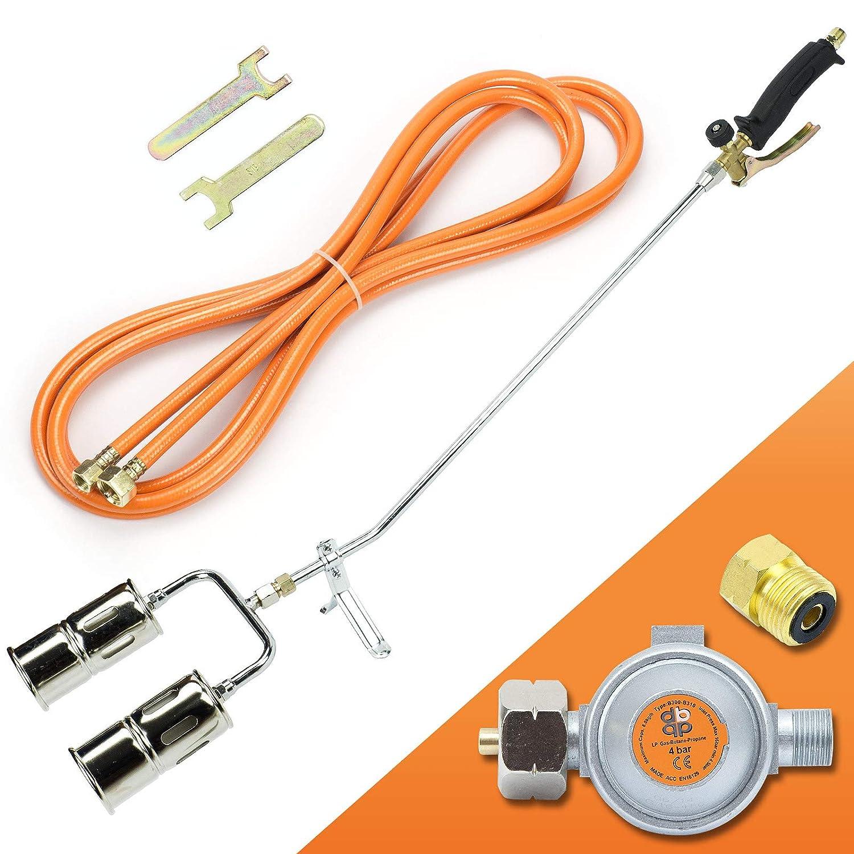 Gasbrenner 110KW Dachbrenner Brenner mit 2-Düse Mitteldruckregler SN0285R Sellnet