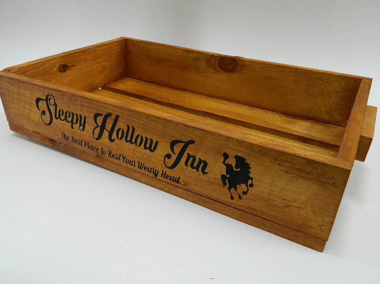Rustic Rhetoric Signs Sleepy Hollow Inn, Halloween, Old Western, Country Primitive, Distressed, Wood Stenciled Sign 5