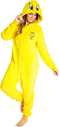 Looney Tunes Pijamas Mujer Invierno de Una Pieza, Pijama ...