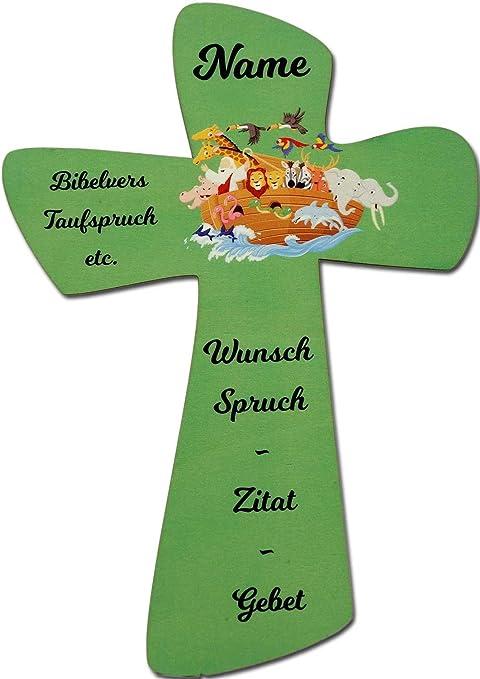 Schlummerlicht24 Licht Deko Kinder Kreuz Schutzengel Engel Arche Jesus Mit Namen Und Wunschtext Gebet Spruch I Deko Geschenk Zur Geburt