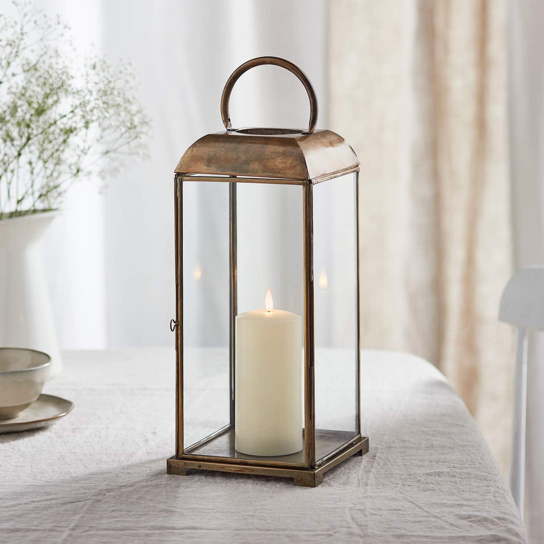 Set di 2 Lanterne Artigianali in Stile Marocchino con TruGlow/® Candele LED per Uso in Interni Lights4fun