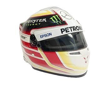 Mercedes Lewis Hamilton 1/2 Escala Mini Carrera Casco 2015 AMG F1 Fórmula un Equipo