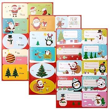 Amazon.com: Vidillo - Etiquetas autoadhesivas para regalo de ...