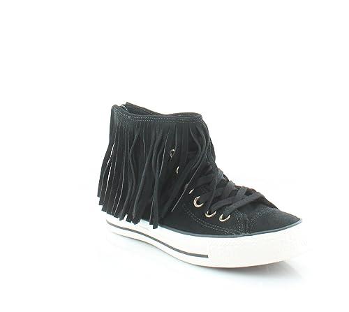 cadea7178148 Converse Star CTAS Fringe Suede Sport Shoes Black Woman  Amazon.co.uk  Shoes    Bags