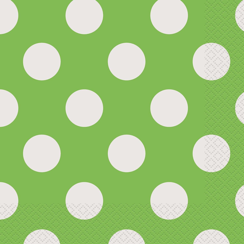 sc 1 st  Amazon.com & Amazon.com: Lime Green Polka Dot Paper Napkins 16ct: Kitchen \u0026 Dining