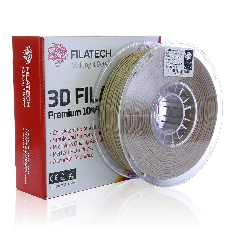 Filatech - Filamento PLA para madera (1,75 mm, 1 kg): Amazon.es ...