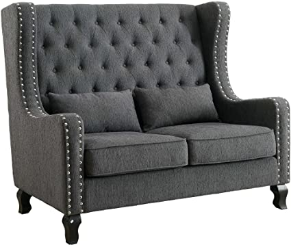 Alicante Gray Loveseat Bench