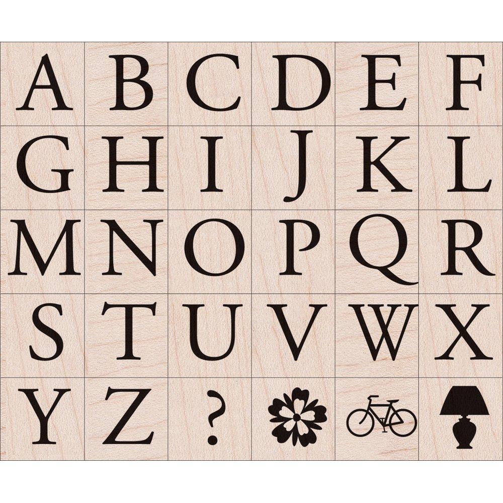 Hero Arts LP1799-LP194 Mounted Rubber Stamp Set Garamond Letters