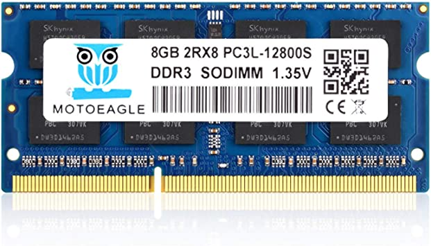 Samsung 8GB 2RX8 PC3L-12800S DDR3 1600MHZ 1.35V NON-ECC SODIMM RAM Laptop Memory