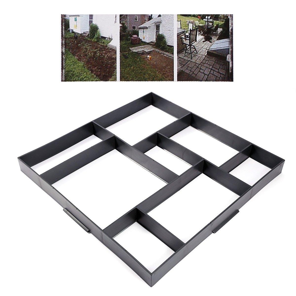 Molde rectángulo cuadrado pavimentazione Jardín ladrillo piedra Cemento Hormigón suelo caminos Patios Fai Da Te: Amazon.es: Hogar