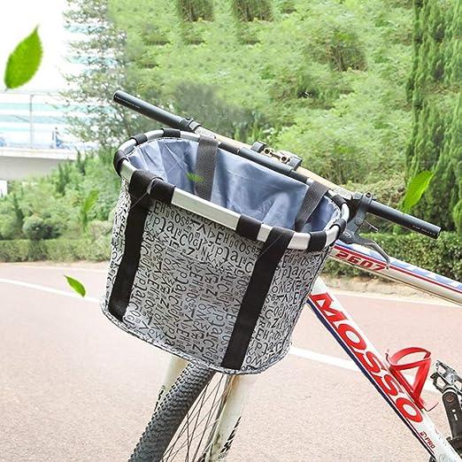 DBWIN Canasta de Bicicleta, Canasta de Bicicleta Plegable de liberación rápida, Portador de Perro Gato Mascota, Bolsa de Manillar Frontal, Bolsa de Ciclismo Compras de Picnic en la montaña, Capaci: Amazon.es: Jardín