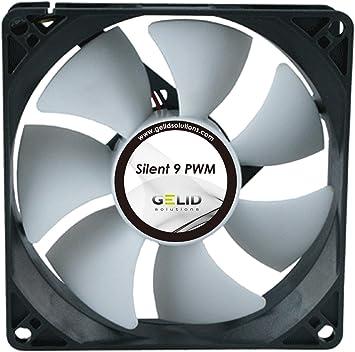 Gelid Solutions Silent 9 PWM - Ventilador de 4 pines. 92mm con tecnología PWM. Operación silenciosa: Amazon.es: Informática
