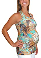 Impact Fitness - Maternity TrackStar Printed Active Top