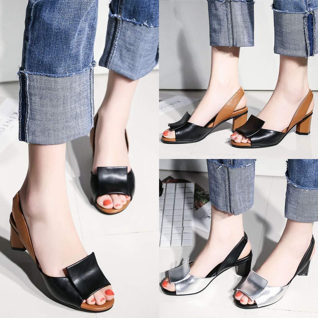 Sandalias De Tac/ón El/áSticas UE 35-43 HuaMore Mujer Tacones De Gran Tama/ñO Zapatos Casuales Elegantes Y C/óModos