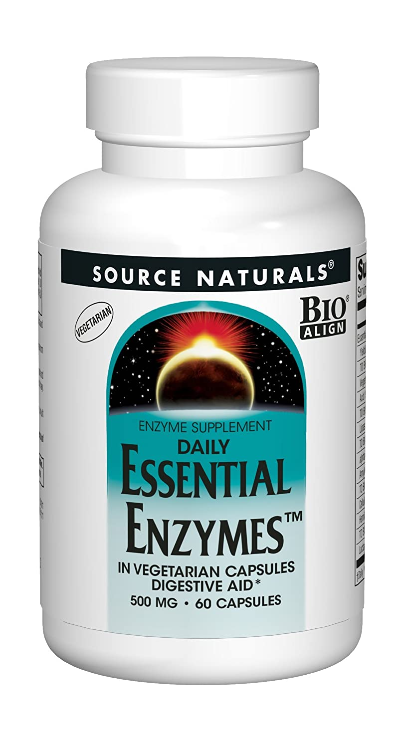 Source Naturals Essential Enzymes 500mg, Full spectrum digestion ...