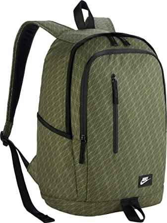 Nike 25 Ltrs Legion Green/Black/White School Backpack (BA5231-331)